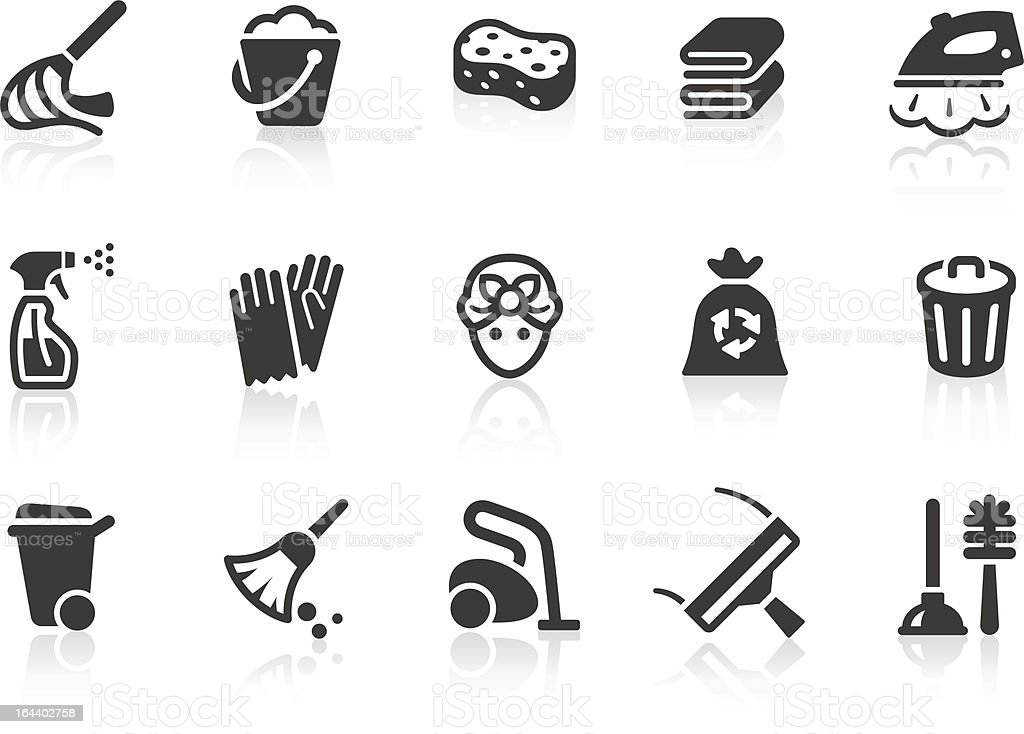 Cleaning icons - Royalty-free Afval vectorkunst
