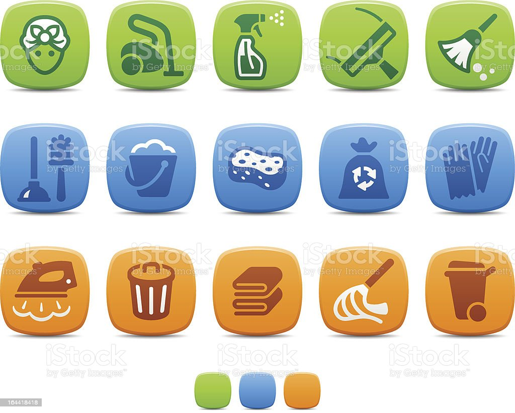Cleaning icons royalty-free cleaning icons stock vector art & more images of bath sponge