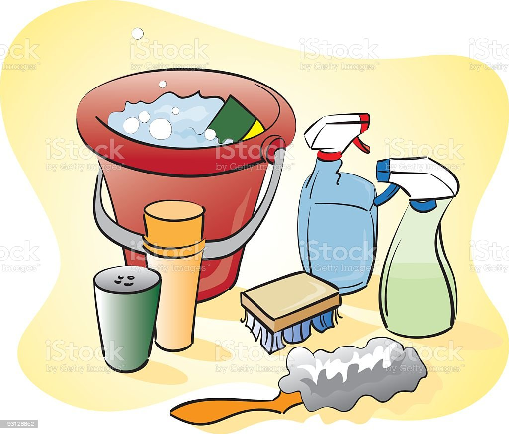 royalty free janitorial supplies clip art vector images rh istockphoto com cleaning supplies clip art free cleaning products clipart