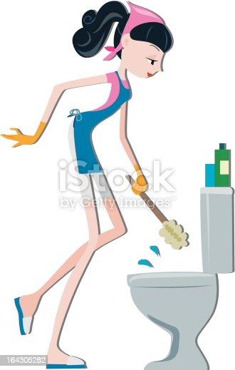 Pulizia tazza del water immagini vettoriali stock e altre immagini di adulto 164305282 istock - Tazza del bagno ...