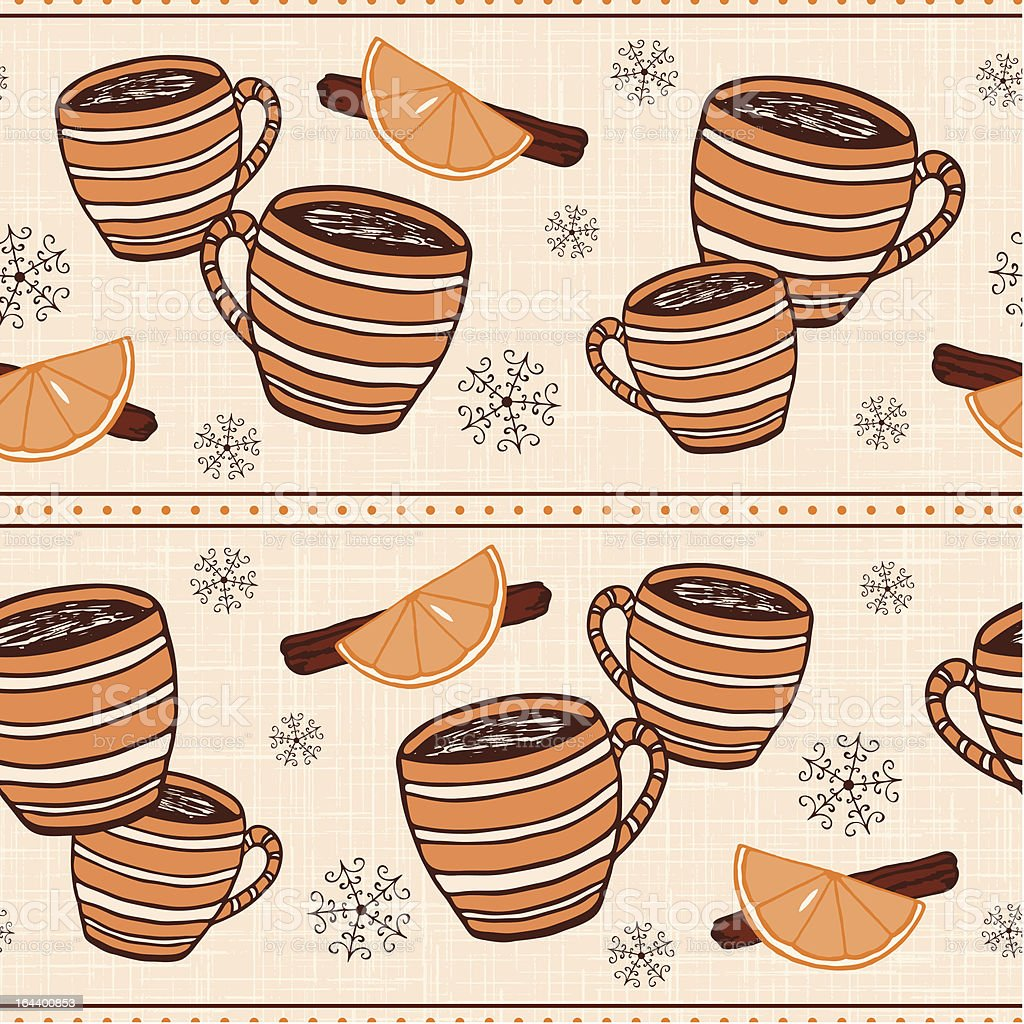 Clementine Spiced Winter Cider Three royalty-free stock vector art