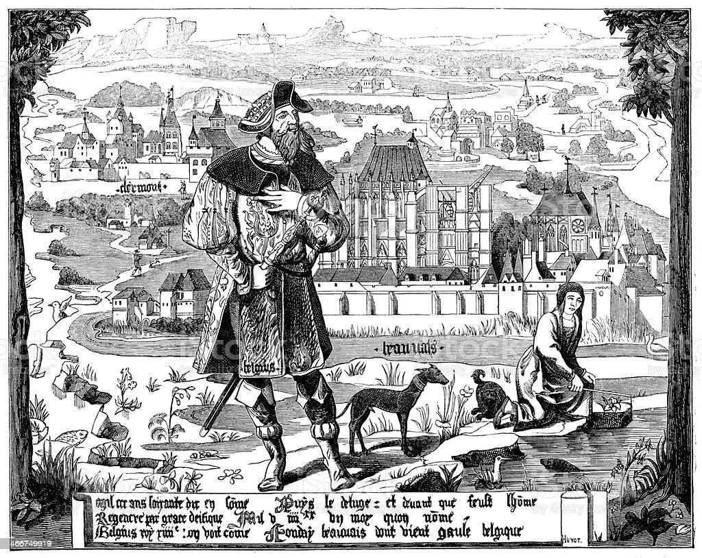 Clermont en Beauvaisis vector art illustration