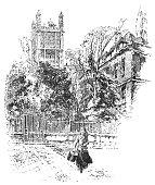 Clifford's Inn in London, England - 19th Century