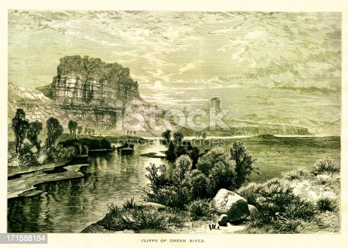 19th-century engraving of the Mohawk Valley in New York, USA. Illustration published in Picturesque America (D. Appleton & Co., New York, 1872). MORE VINTAGE AMERICAN ILLUSTRATIONS HERE: