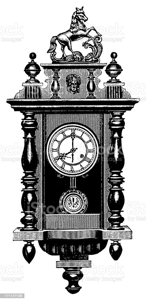 Clock | Antique Design Illustrations royalty-free stock vector art