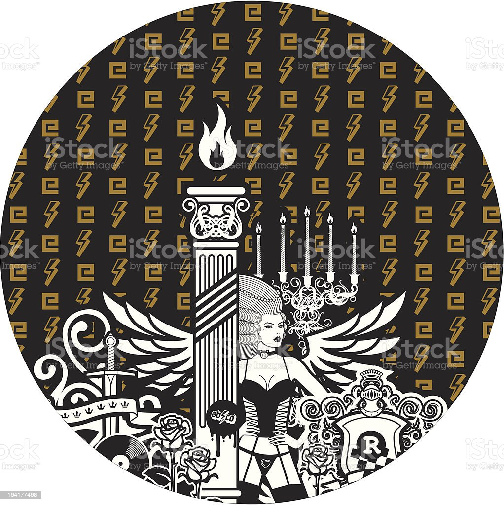 Clock Face royalty-free stock vector art