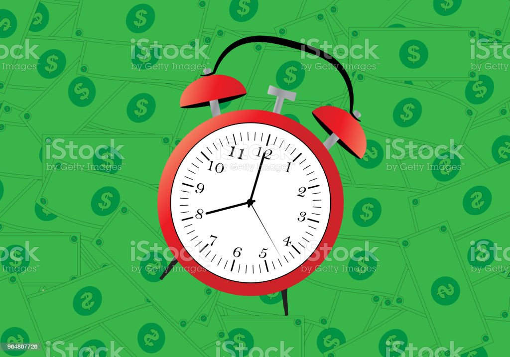 Clock On Money royalty-free clock on money stock vector art & more images of alarm clock