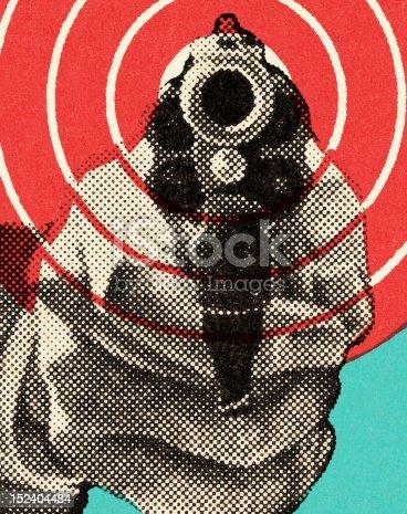 istock Close Range Handgun 152404484