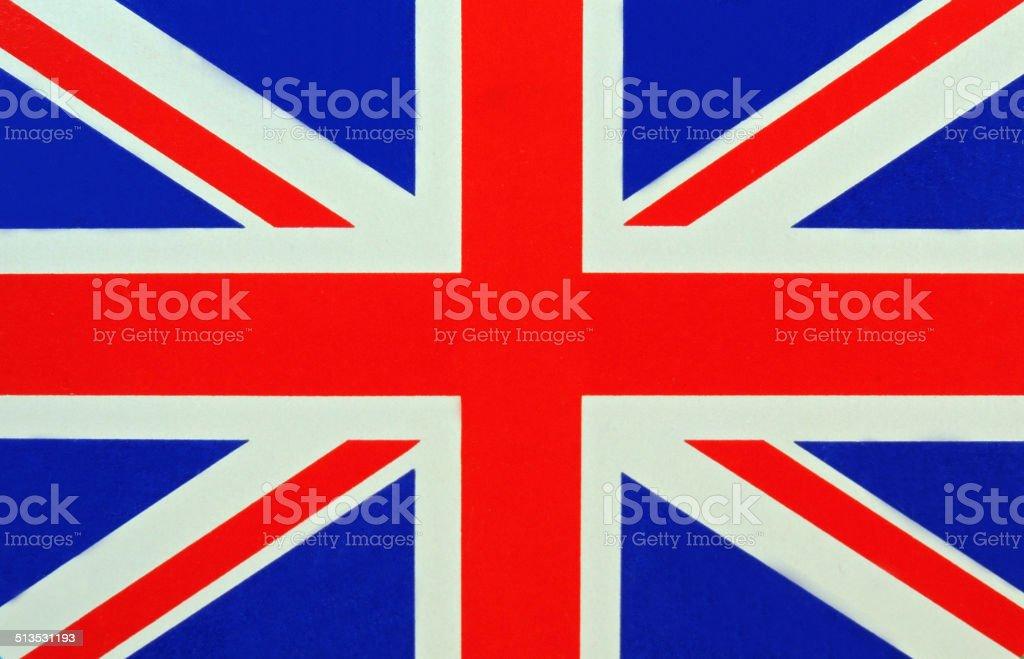 Close up Flag - United Kingdom vector art illustration