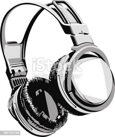 Close up of audio headphones