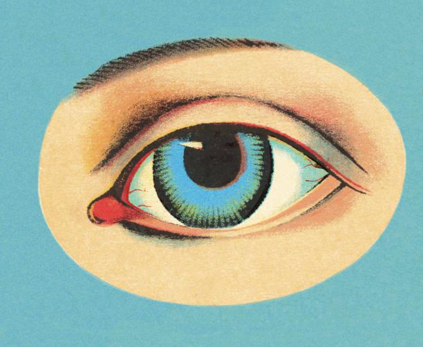 ilustraciones, imágenes clip art, dibujos animados e iconos de stock de primer plano de los ojos - ojos azules