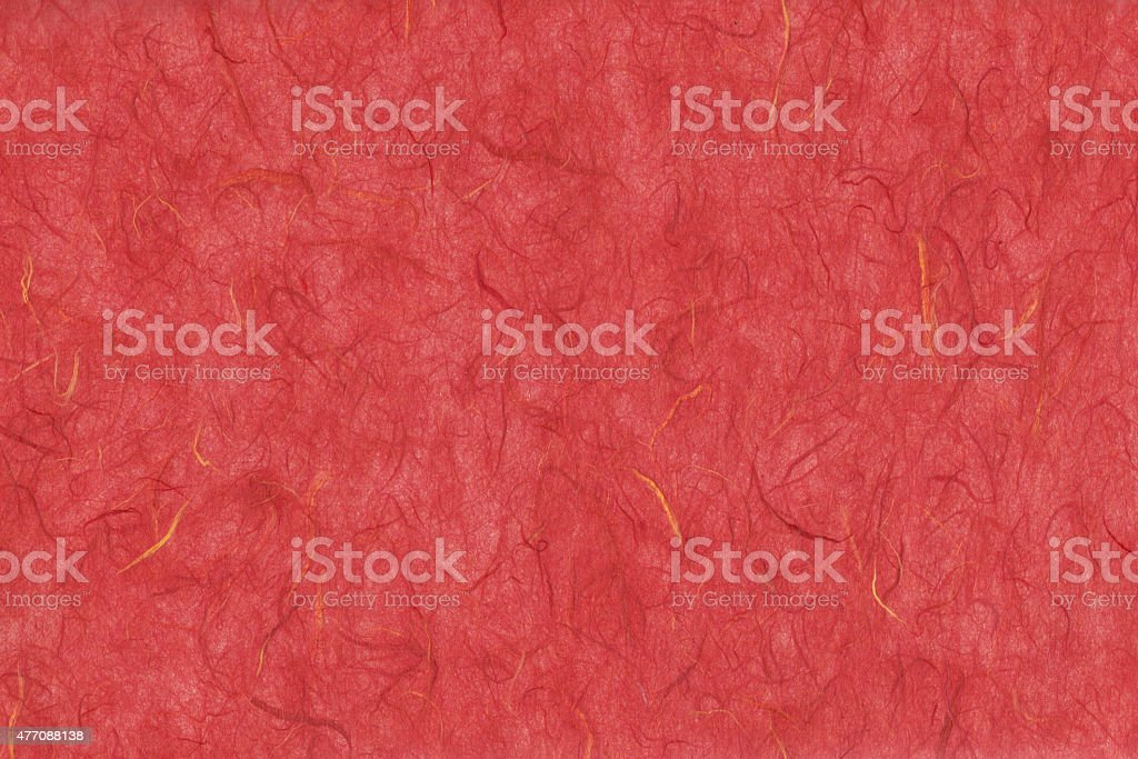 Close up of red hand made art paper vector art illustration