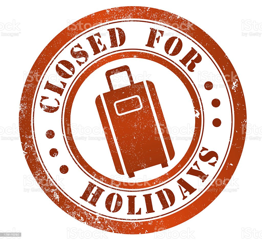 Cerrado durante los días festivos de la firma - ilustración de arte vectorial
