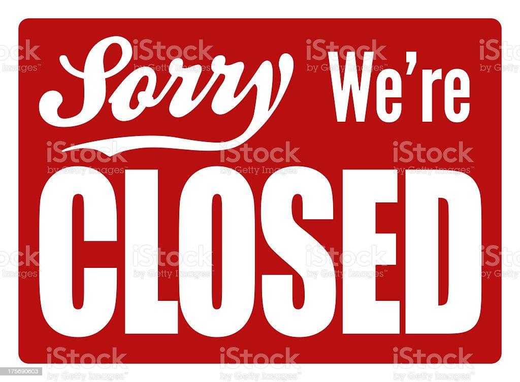 Closed Sign - XL vector art illustration