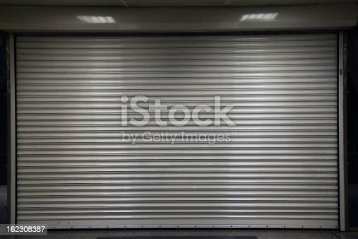 closed steel door