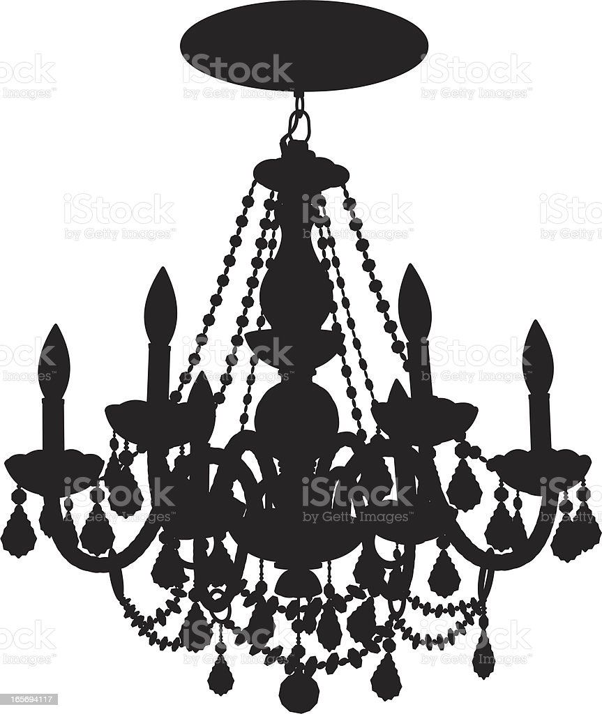 Close-up of a chandelier vector art illustration