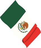 Close-up of a Mexican flag