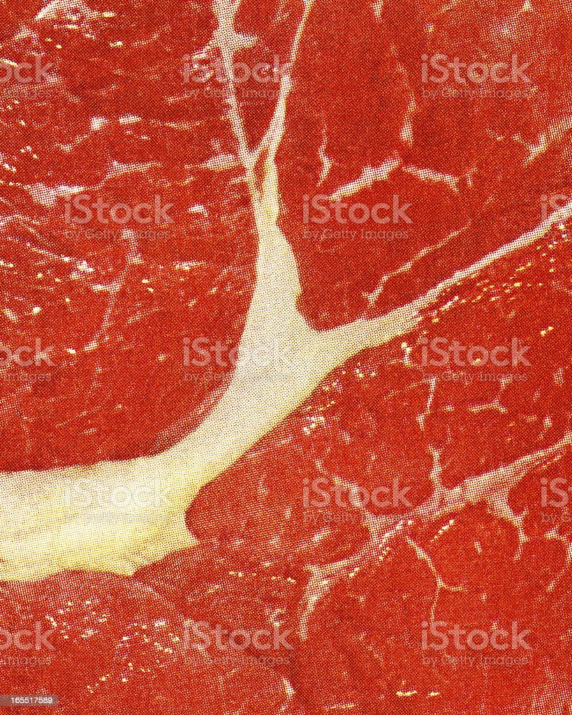 Closeup of a Piece of Steak vector art illustration