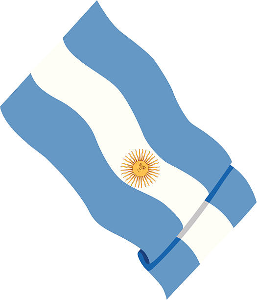 close-up of an argentinian flag - argentina flag stock illustrations, clip art, cartoons, & icons
