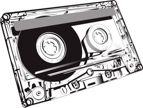 Close-up of an audio tape