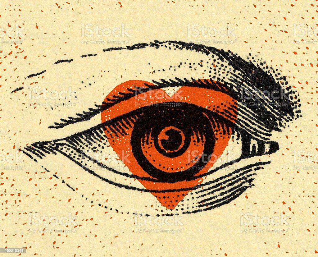 Closeup of an Eye vector art illustration