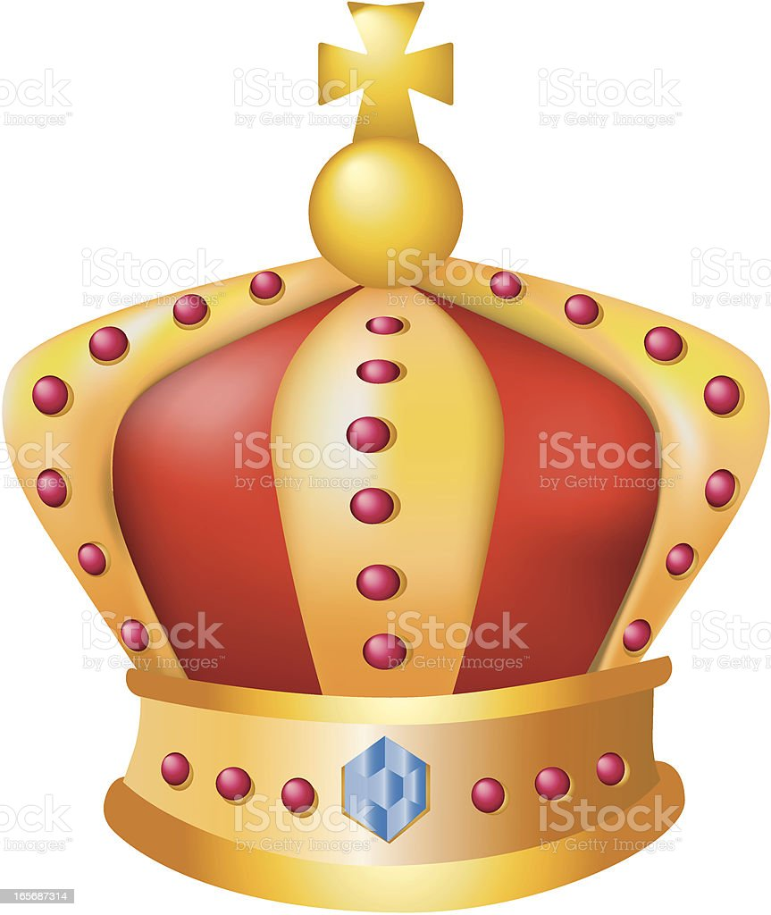 Close-up of an imperial crown royalty-free stock vector art