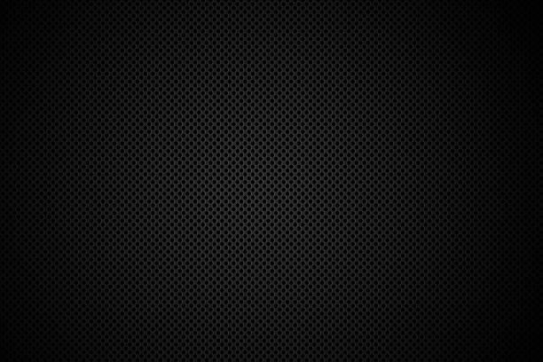 stockillustraties, clipart, cartoons en iconen met close-up of dark color speaker grid - texture