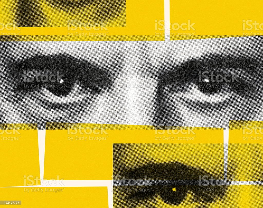 Closeup of Eyes royalty-free stock vector art