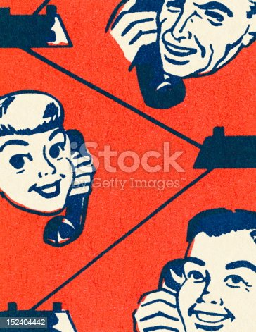 Closeup of People Talking on Phone