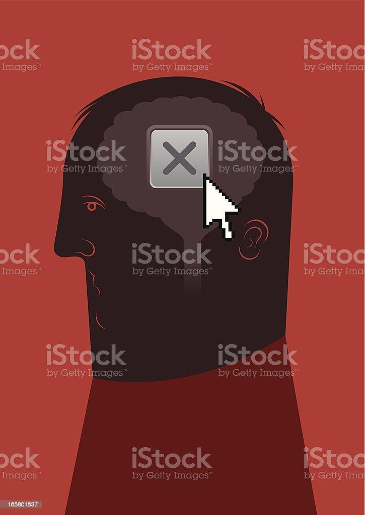 closing brain royalty-free stock vector art