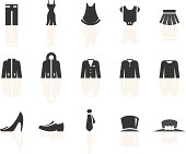 Clothes related vector icons for your design and application.