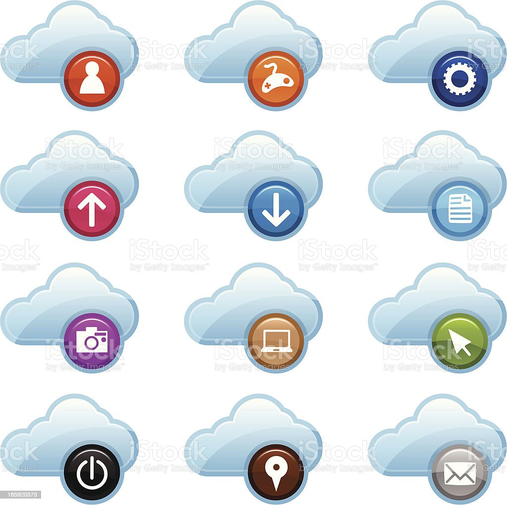 Cloud Computer Icons royalty-free cloud computer icons stock vector art & more images of arrow symbol