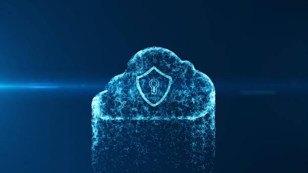 Cloud Computing und Cyber Security Konzept. – Vektorgrafik