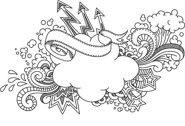 Cloud Doodle vektorkonstillustration