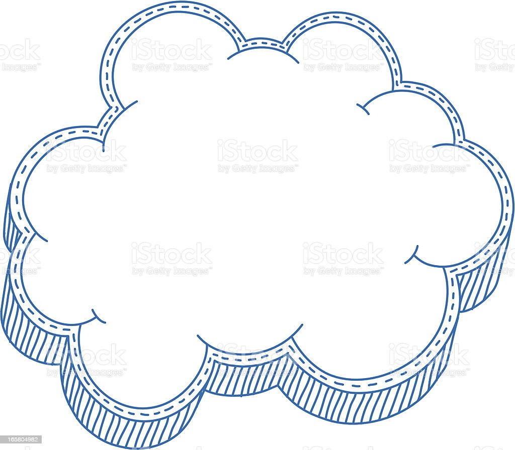 Cloud Frame Stock Vector Art & More Images of Cloud - Sky 165804982 ...