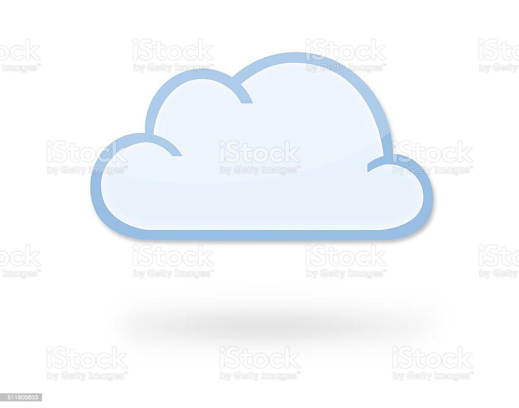 Cloud Icon vector art illustration
