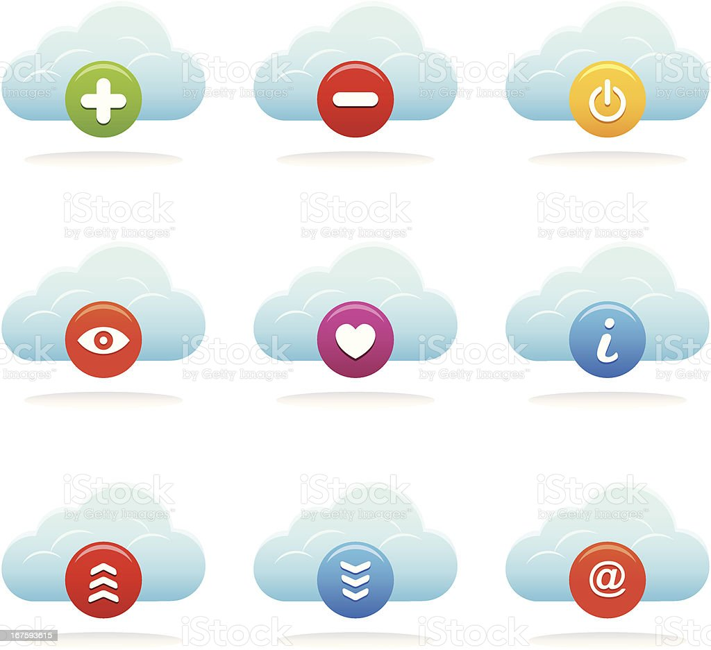 Cloud Icons royalty-free stock vector art