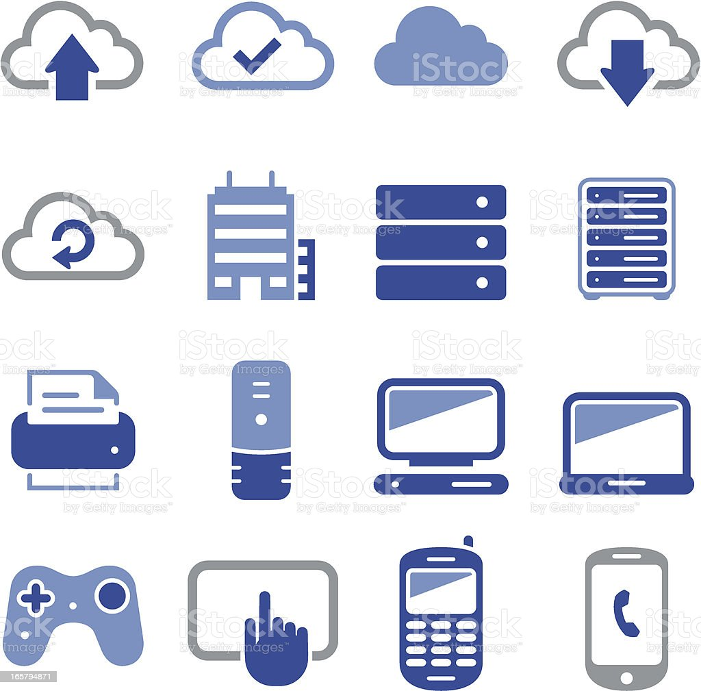 Cloud Icons - Pro Series royalty-free stock vector art