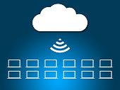 Cloud Network Symbol XXXL