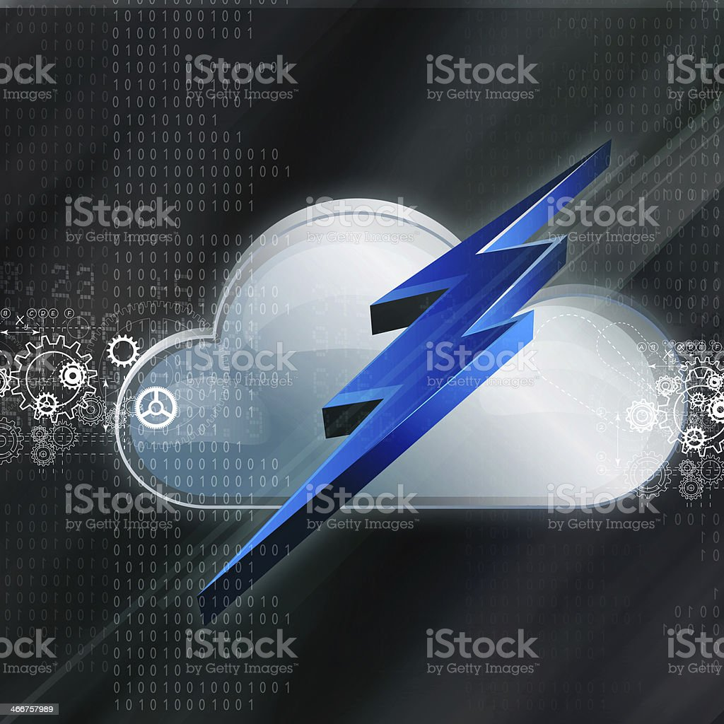 Cloud Technology  Abstract Background royalty-free cloud technology abstract background stock vector art & more images of abstract