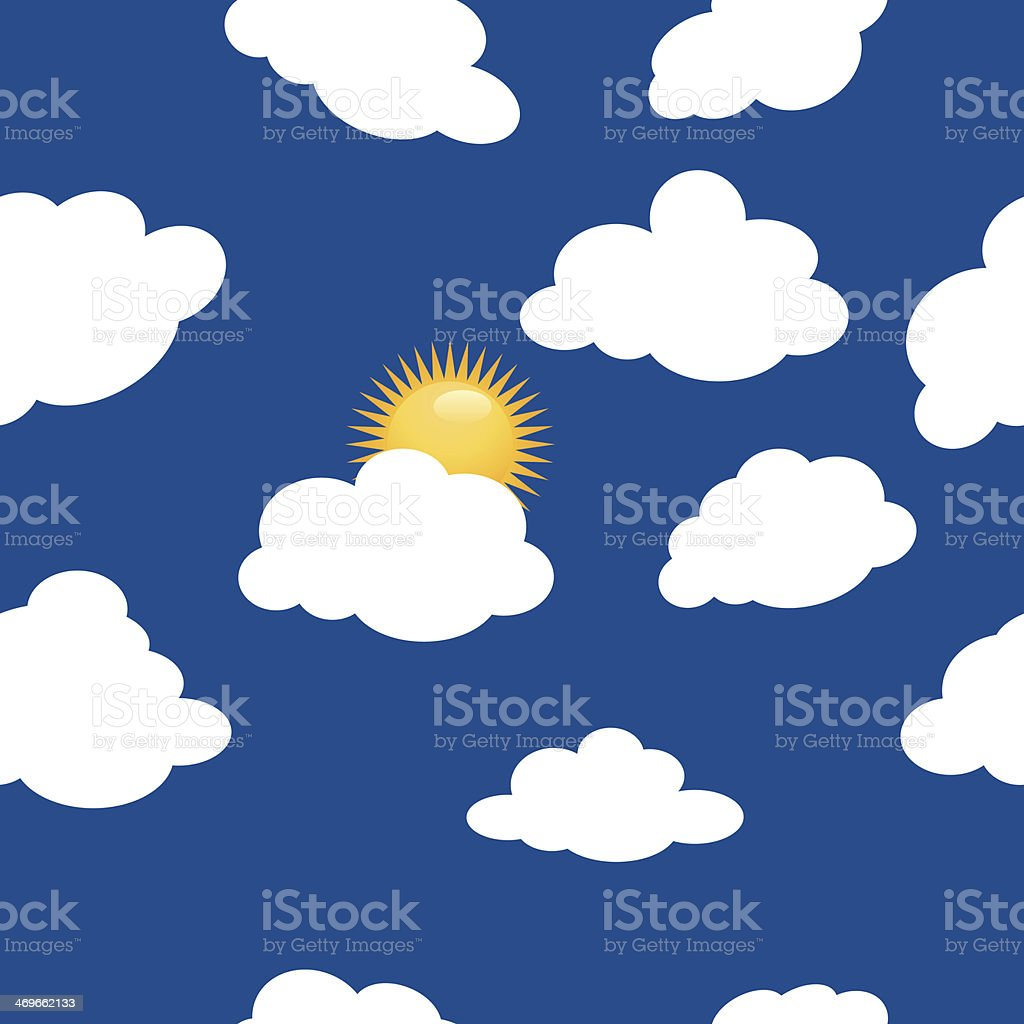 Clouds pattern royalty-free stock vector art