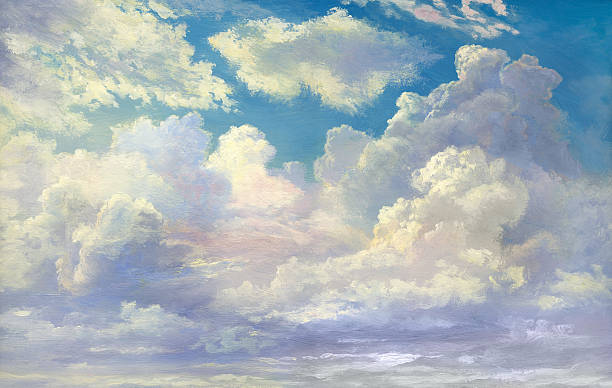 Cloudscape vector art illustration