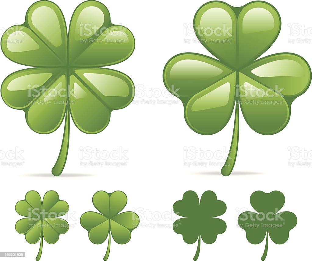 Clovers vector art illustration