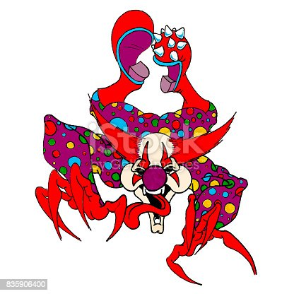 Clown Evil Stock Vector Art & More Images of Bizarre 835906400