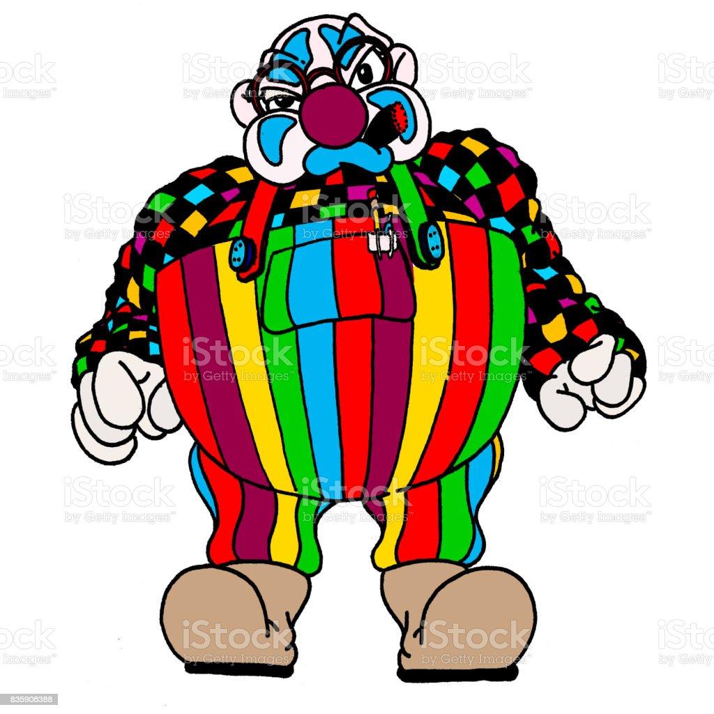 Clown Fat vector art illustration