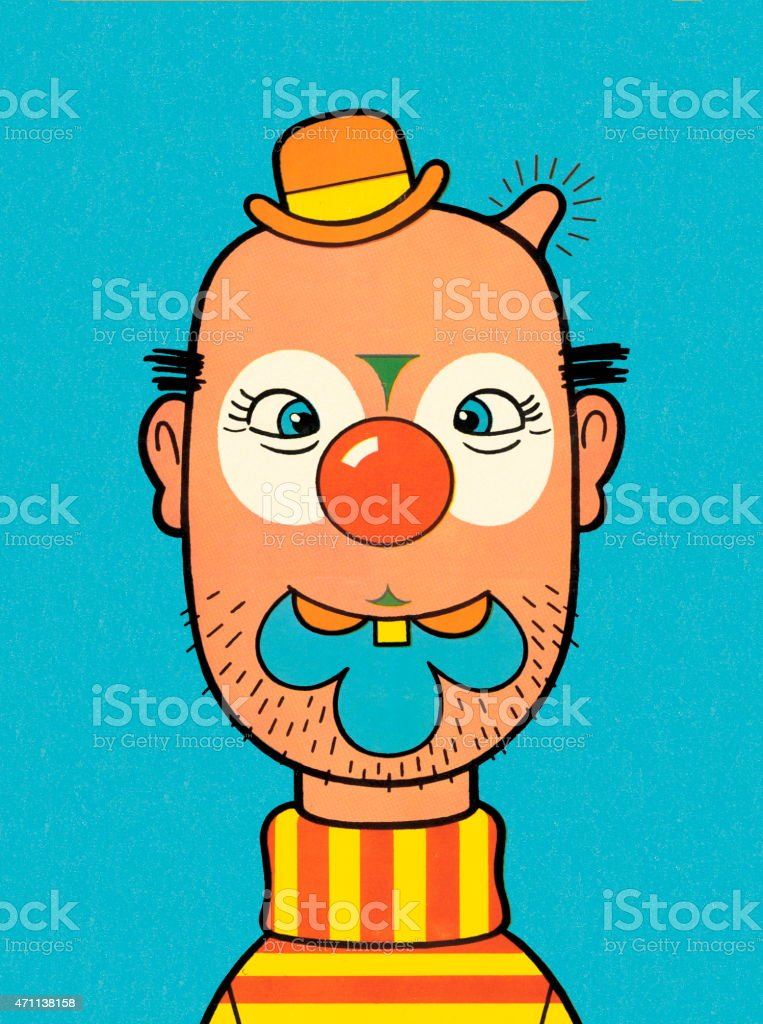 Clown vector art illustration