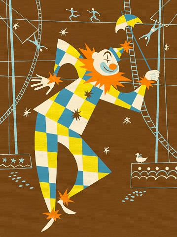 Clown Performing at Circus