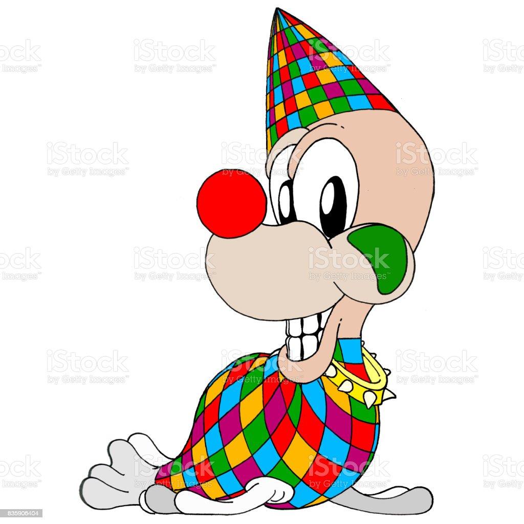 Clown Seal vector art illustration