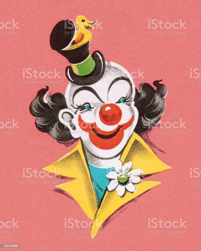Clown Wearing Hat royalty-free stock vector art