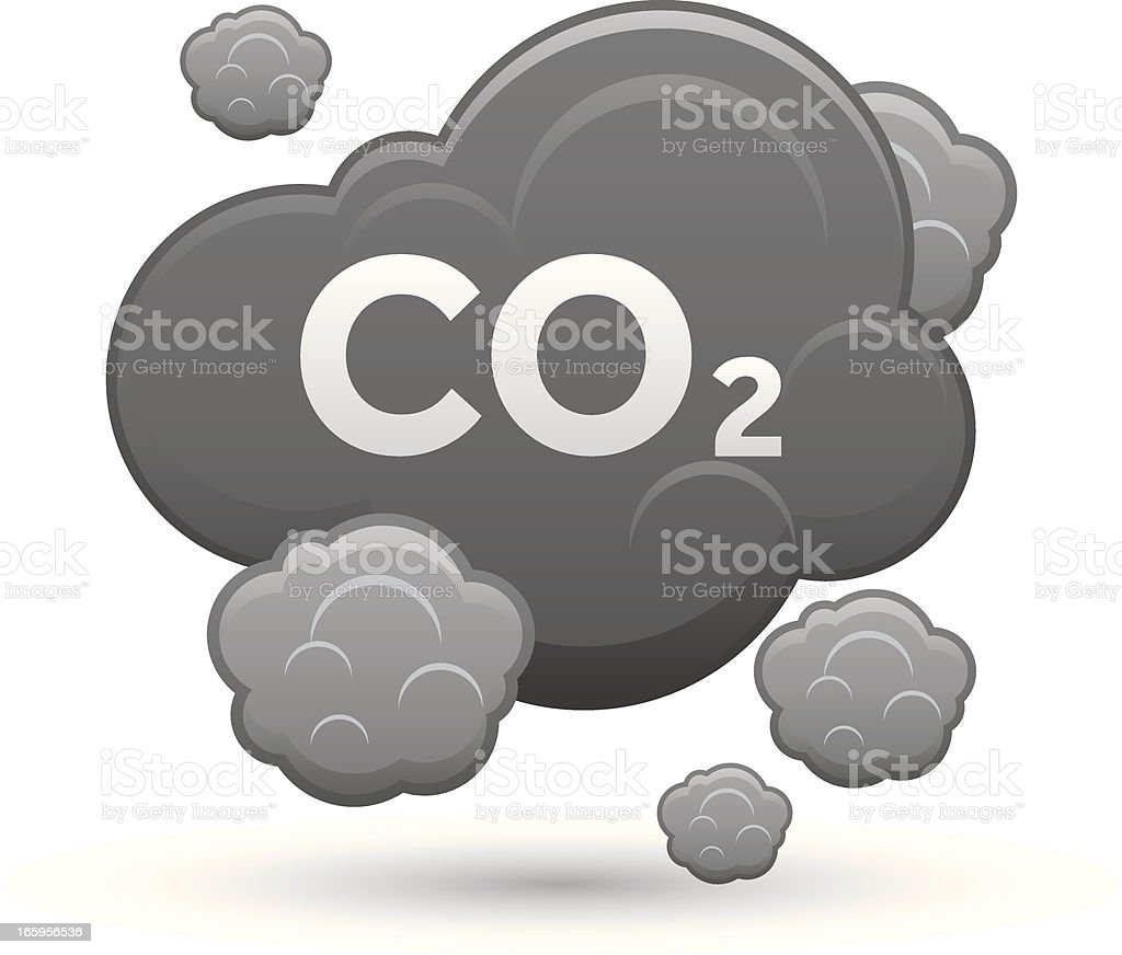 Co2 Icon royalty-free stock vector art